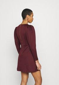 Closet - LONG SLEEVE SKATER DRESS - Jersey dress - burgundy - 2