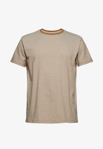 Print T-shirt - camel