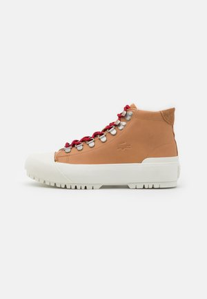 GRIPSHOT  - Lace-up ankle boots - tan/offwhite