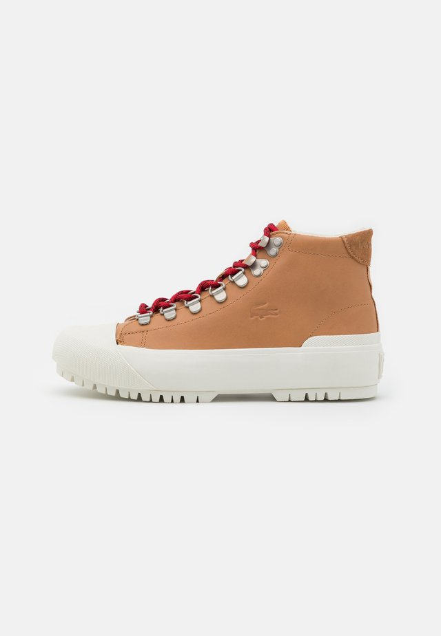 GRIPSHOT  - Bottines à lacets - tan/offwhite
