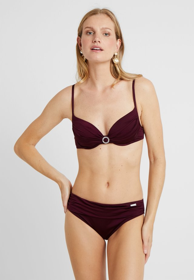 PUSH UP SET - Bikini - bordeaux