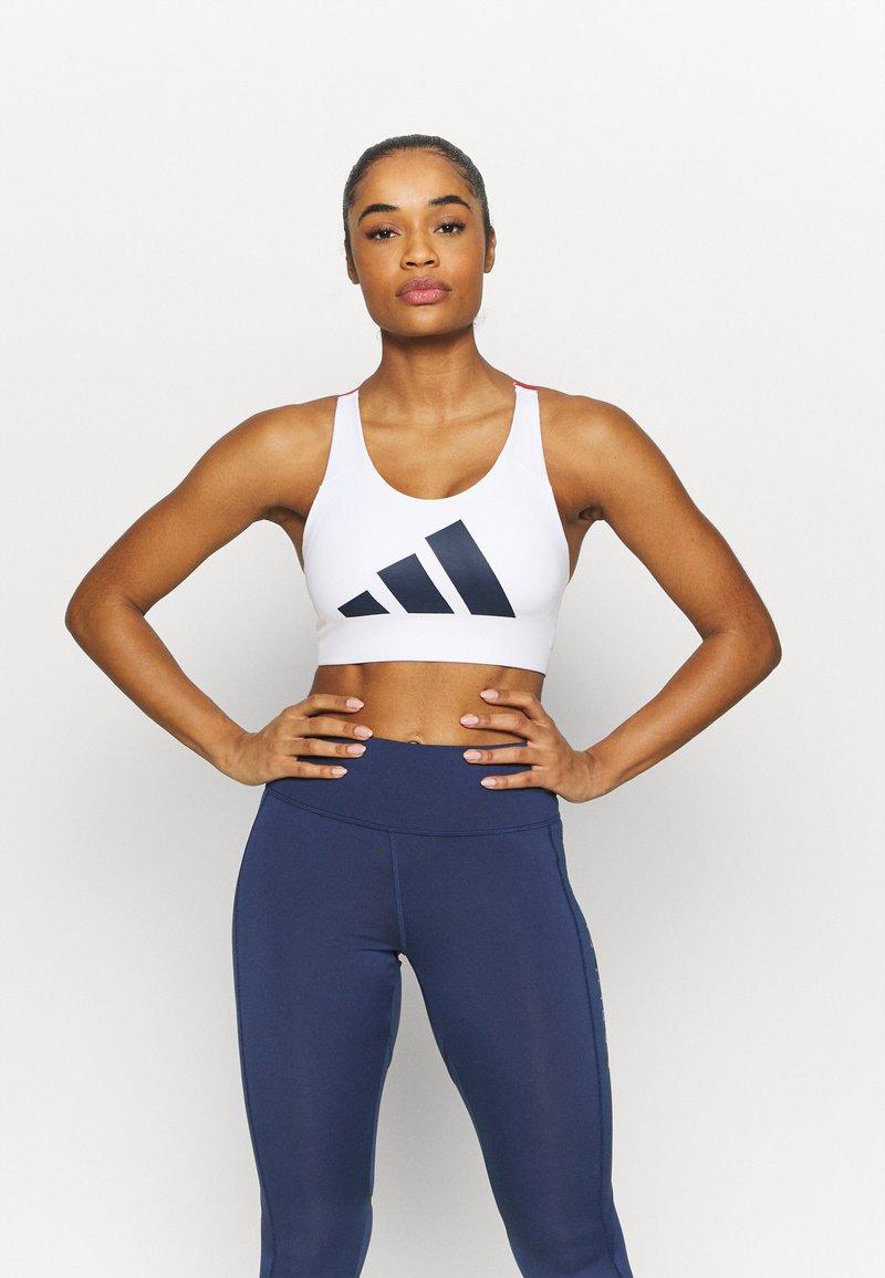 adidas Performance - ALPHA - Reggiseno sportivo con sostegno elevato - white/navy