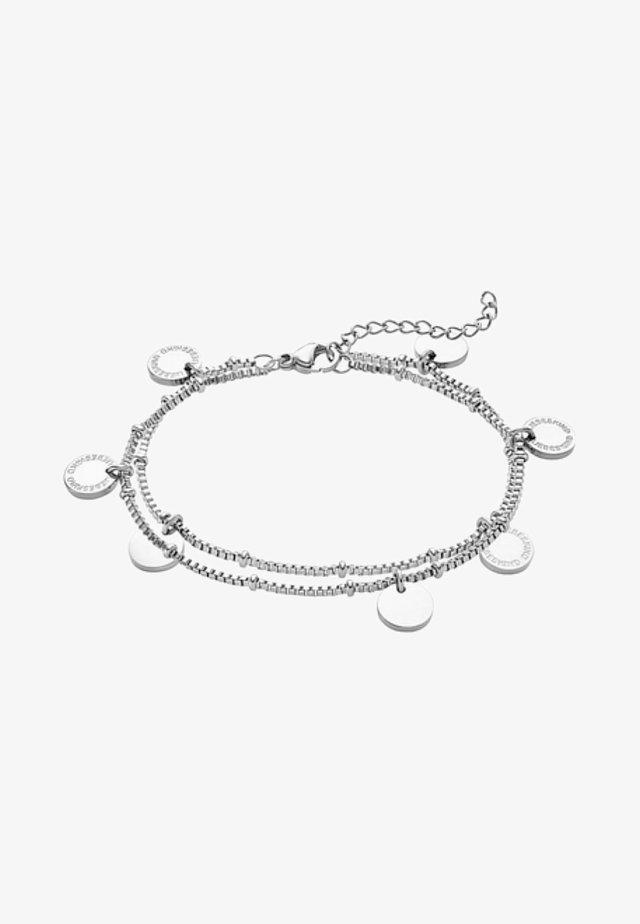 Bracelet - silver - coloured