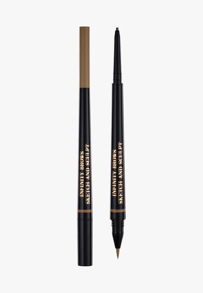 LH cosmetics - INFINITY POWER BROWS - SKETCH AND SCULPT LIQUID LINER & PENCIL - Eyebrow pencil - blonde