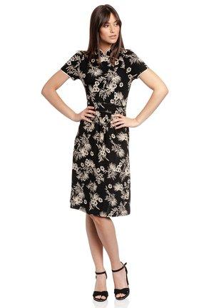 TROPICAL ASIAN - Jumper dress - schwarz allover