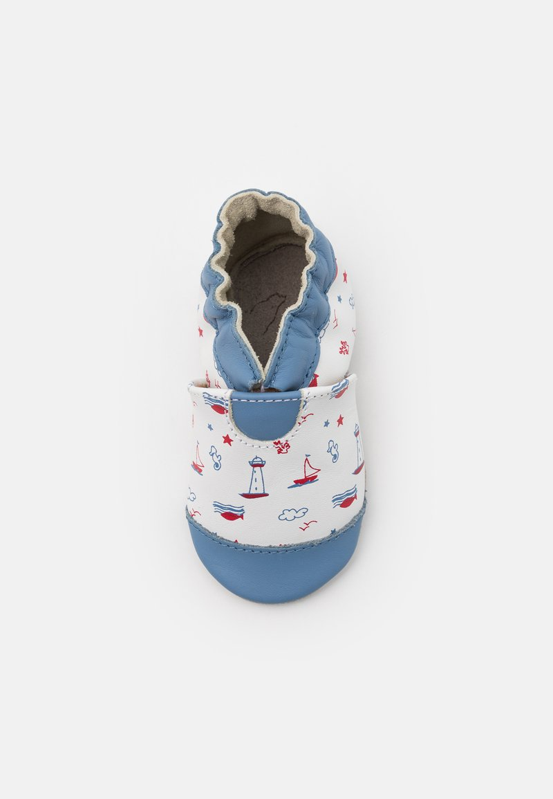 Robeez - BEAUTIFUL BOAT - First shoes - blanc/bleu