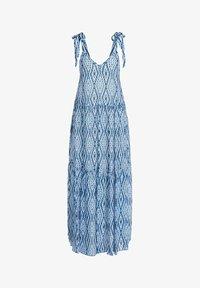 SET - MIT TIE-DYE PRINT - Maxi dress - white blue - 6
