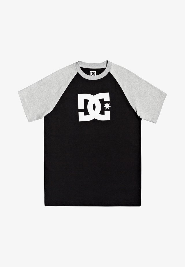 STAR RAGLAN - T-shirt print - black