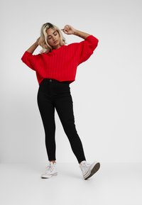 Topshop Petite - JONI - Jeans Skinny Fit - pure black - 1
