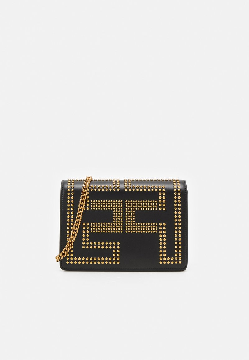 Elisabetta Franchi - CHAIN LOGO CROSSBODY - Across body bag - nero