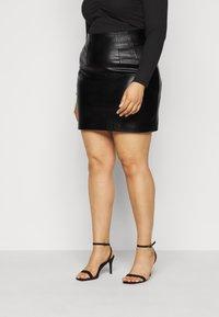 Glamorous Curve - SKIRT - A-line skirt - black - 0