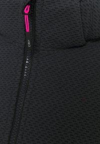Campagnolo - WOMAN JACKET ZIP HOOD - Soft shell jacket - grey/nero - 3