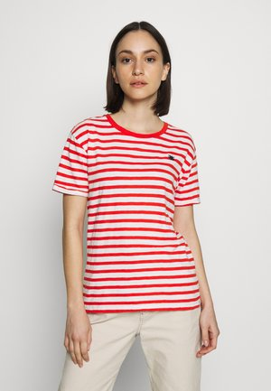 EASY STRIPE TEE WITH CHEST EMBROIDERY - Triko s potiskem - combo