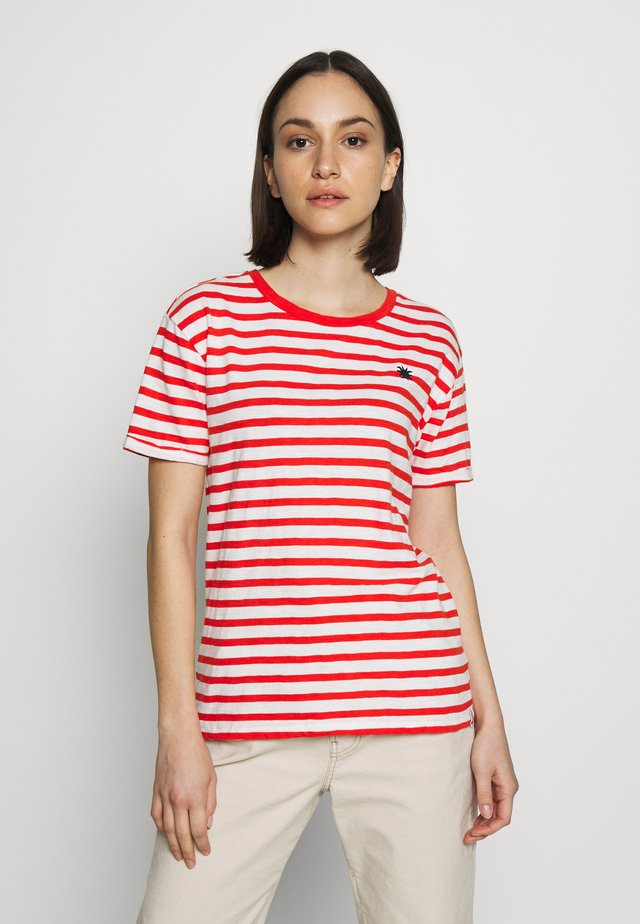 EASY STRIPE TEE WITH CHEST EMBROIDERY - Triko spotiskem - combo