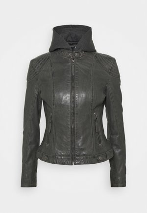 CACEY LEGV - Leather jacket - antracite