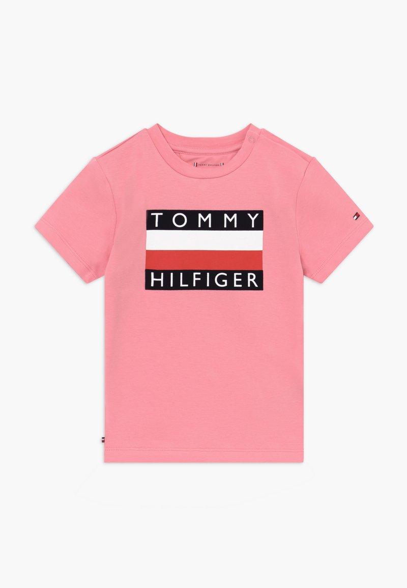 Tommy Hilfiger - BABY FLAG  - Print T-shirt - pink