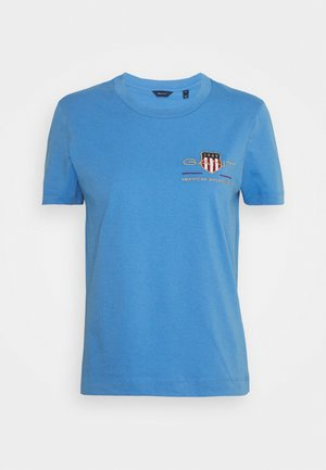 ARCHIVE SHIELD  - T-shirts med print - pacific blue