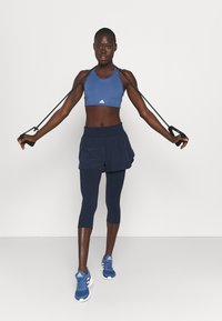 Sweaty Betty - POWER DOUBLE UP WORK OUT LEGGINGS - Tights - navy blue - 1
