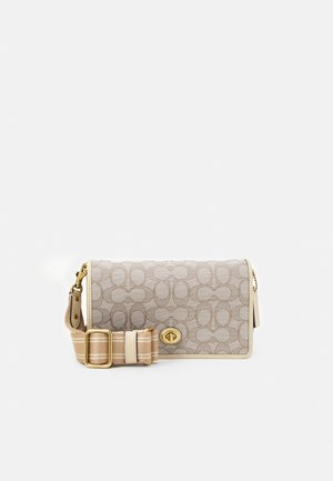 SIGNATURE TURNLOCK HAYDEN - Across body bag - stone ivory