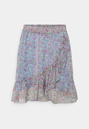 JDYJENNIFER LIFE MINI SKIRT - Mini skirt - baby blue/pink