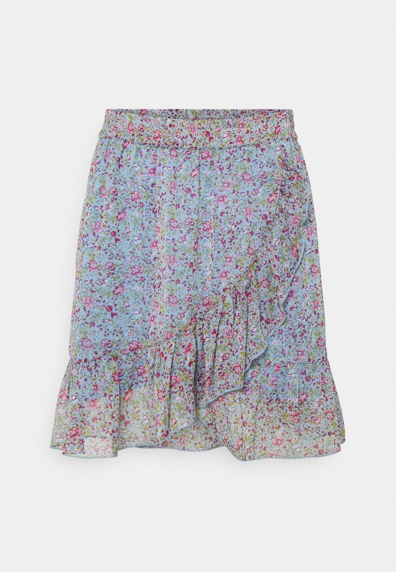 JDY - JDYJENNIFER LIFE MINI SKIRT - Mini skirt - baby blue/pink