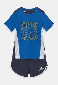 adidas Performance - SET  - Print T-shirt - blue/legink/white - 0