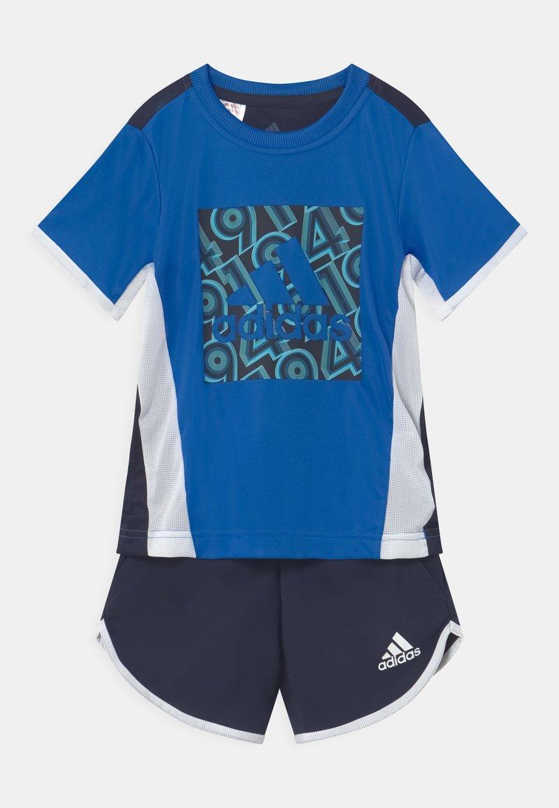 adidas Performance - SET  - Print T-shirt - blue/legink/white