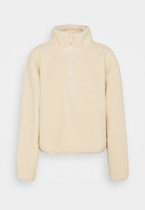 CROP  - Fleece jumper - natural