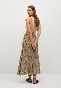 Mango - PALMA - Maxi skirt - green - 2