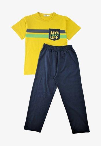 SET - Spodnie treningowe - mustard yellow