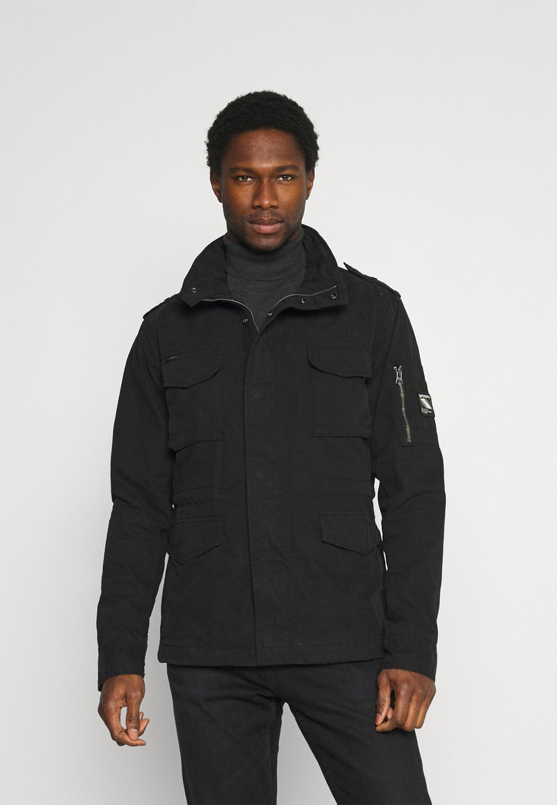 Superdry - CLASSIC ROOKIE  - Summer jacket - washed black