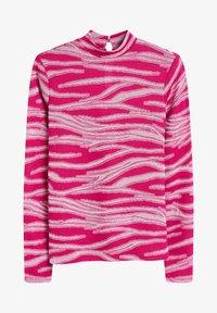 Next - METALLIC ZEBRA - Long sleeved top - pink - 1