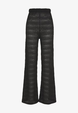 BREATHTAKING WIDE PANTS - Pantaloni - black