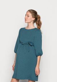 MAMALICIOUS - MLINA SHORT DRESS - Jersey dress - mallard blue - 0