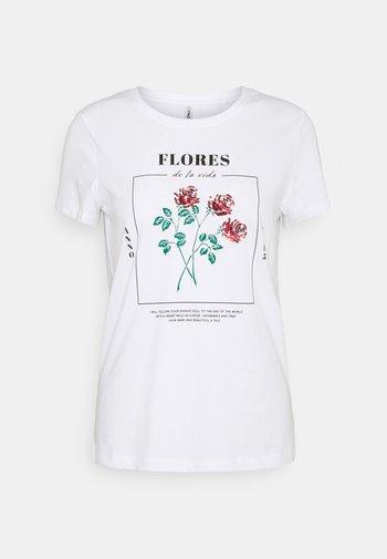 ONLKITA LIFE REGULAR ROSE BOX - Print T-shirt - bright white