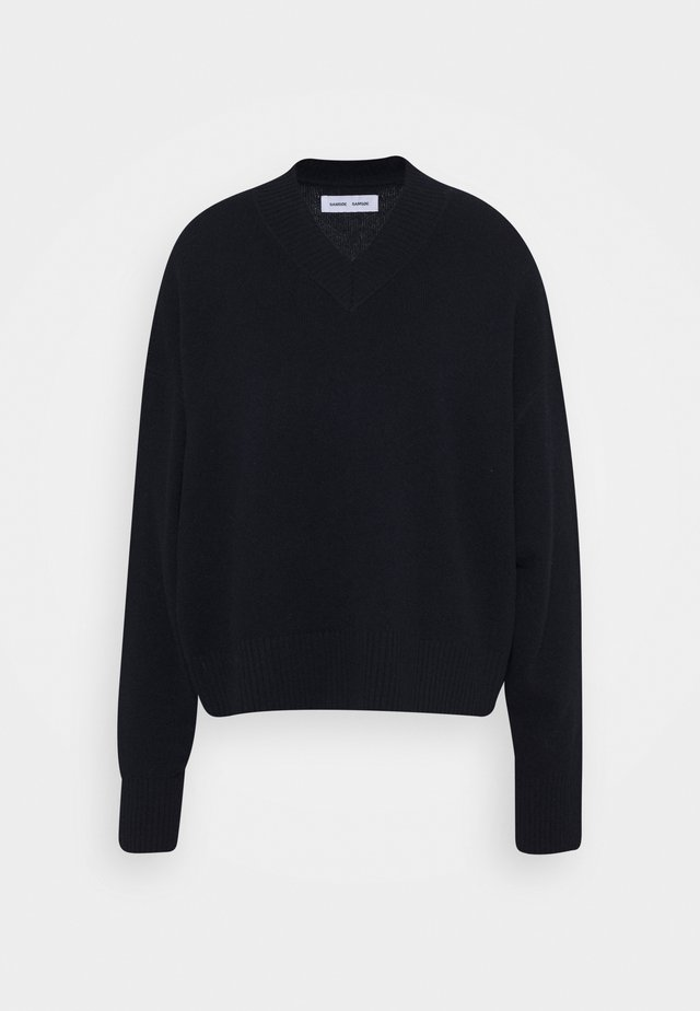 AMARIS V NECK  - Jumper - black