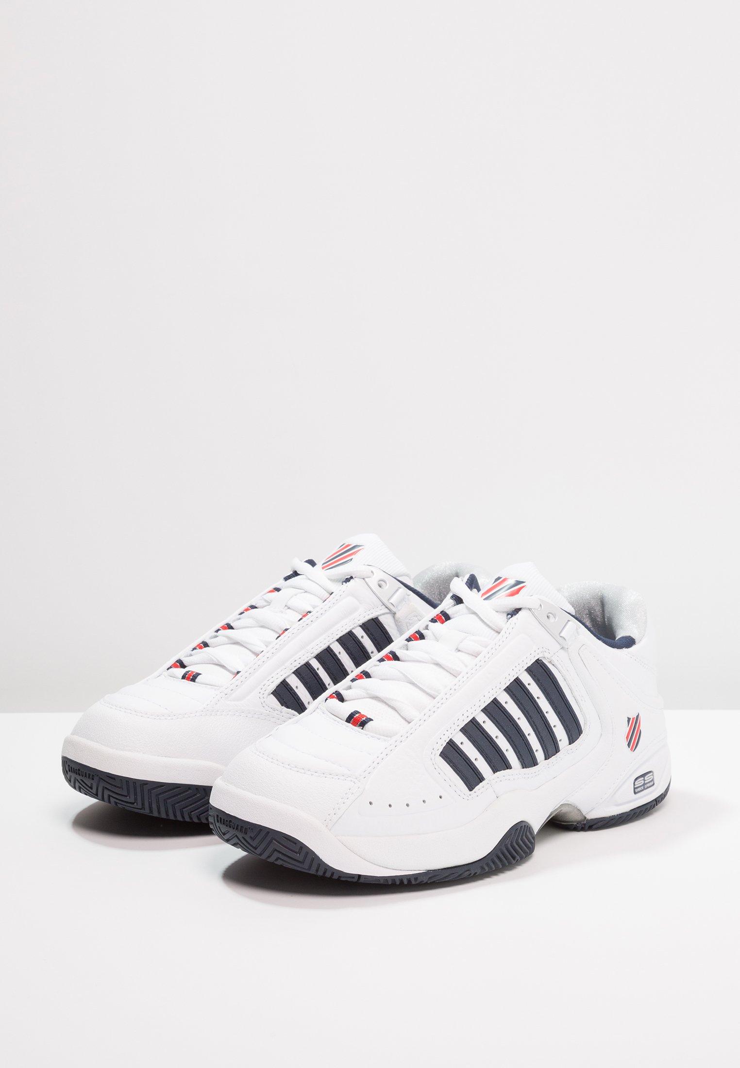 K-SWISS DEFIER RS - Multicourt Tennisschuh - white/dress blue/fiery red/weiß - Herrenschuhe zzcHZ