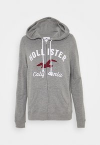 Hollister Co. - TERRY TECH CORE - Mikina na zip - grey - 4