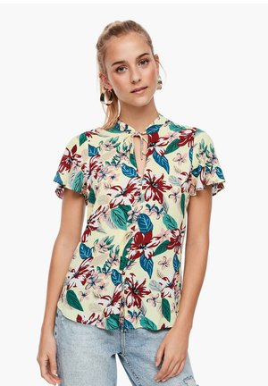MIT ALLOVER-PRINT - Blouse - sea green big flowers aop