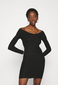 Miss Selfridge - BARDOT MINI DRESS - Shift dress - black - 0