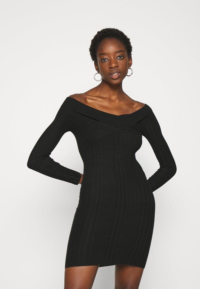 Miss Selfridge - BARDOT MINI DRESS - Shift dress - black