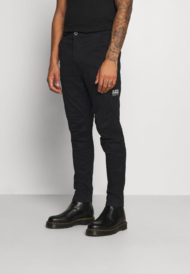 RACKAM 3D SLIM TRAINER - Pantalones - dark black