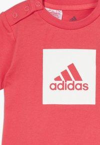 adidas Performance - LOGO SUMMER TRACKSUIT BABY SET - Tracksuit - core pink/white - 5