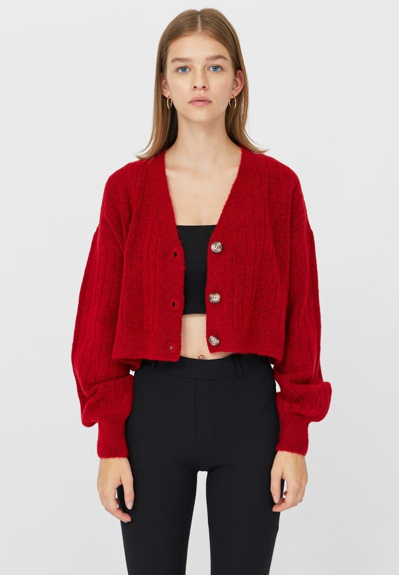 Stradivarius - Cardigan - red