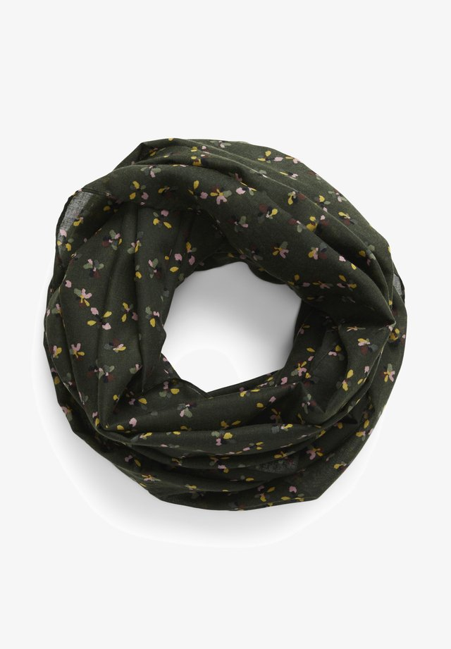 Snood - dark rosin floral design