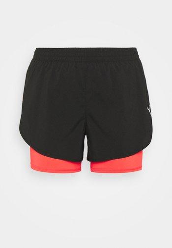 RUN SHORT - Sports shorts - black/sunblaze