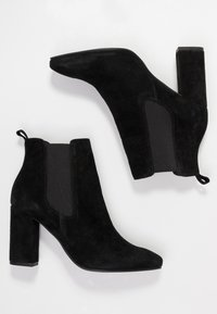 Anna Field Select - LEATHER HIGH HEELED ANKLE BOOTS - High heeled ankle boots - black - 3