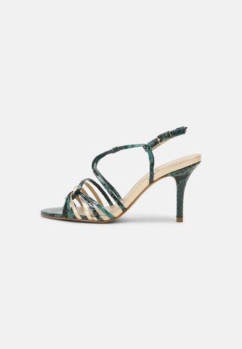 EMBIMO MUSA - Korolliset sandaalit - turquoise/gold
