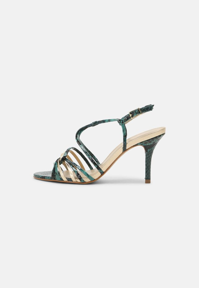 EMBIMO MUSA - Sandály na vysokém podpatku - turquoise/gold