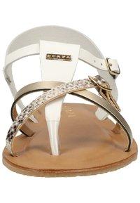 Scapa - SCAPA ZEHENSTEG - Sandals - wit / blanc 100 - 6